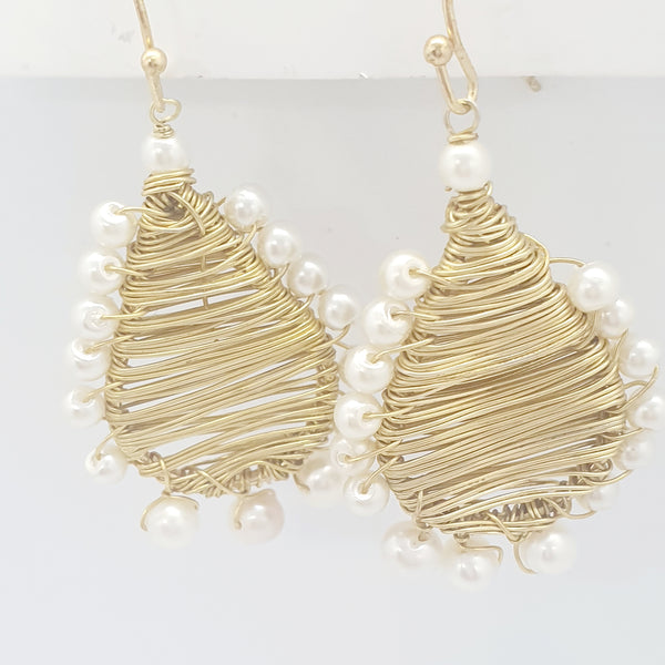 Gold Wired Pearls