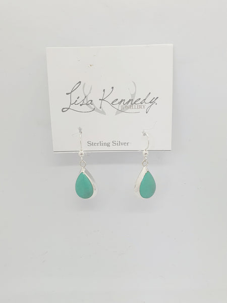 Sterling  silver turquoise green