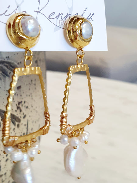 Gold Frames and Freshwater Pearls
