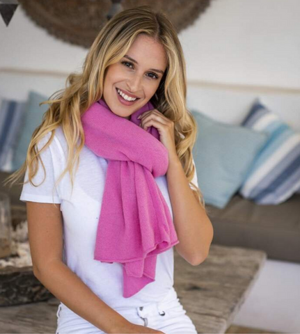 Cashmere Topper in Candy
