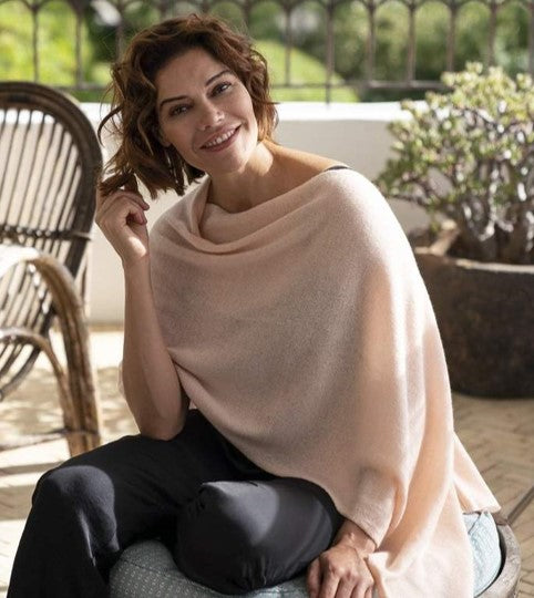 Cashmere Topper in Blush