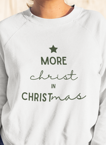 More Christ In Christmas Cranberry Sweatshirt