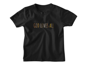 God Loves All Black Multicolor - Tee