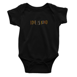 Love Is Kind Black Multicolor - Bodysuit