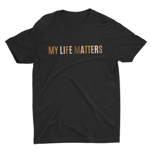 My Life Matters Black Multicolor Crew Neck