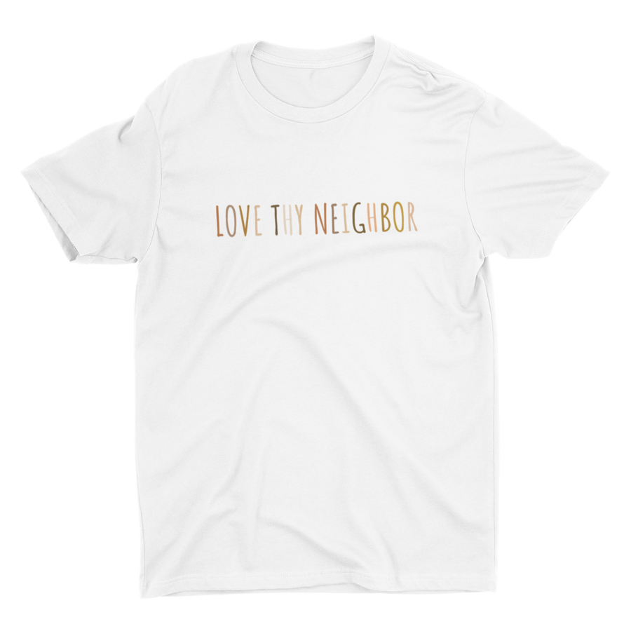 Love Thy Neighbor Black Multicolor Crew Neck