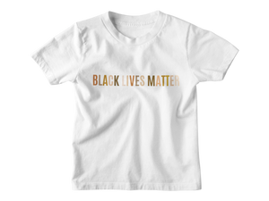 Black Lives Matter White Multicolor - Tee