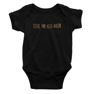 Love Thy Neighbor White Multicolor - Bodysuit