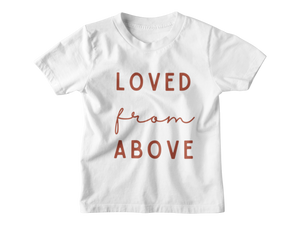 Loved From Above - Cranberry Tee