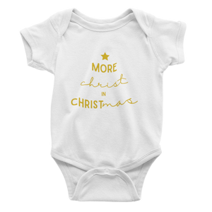 More Christ In Christmas - Gold Bodysuit