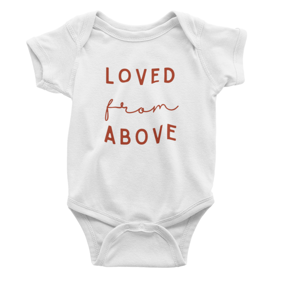 Loved From Above - Cranberry Bodysuit