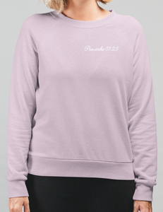 Proverbs 31:25 Scripture Sweatshirt