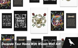 Decorate Your Home With Wiccan Wall Art!