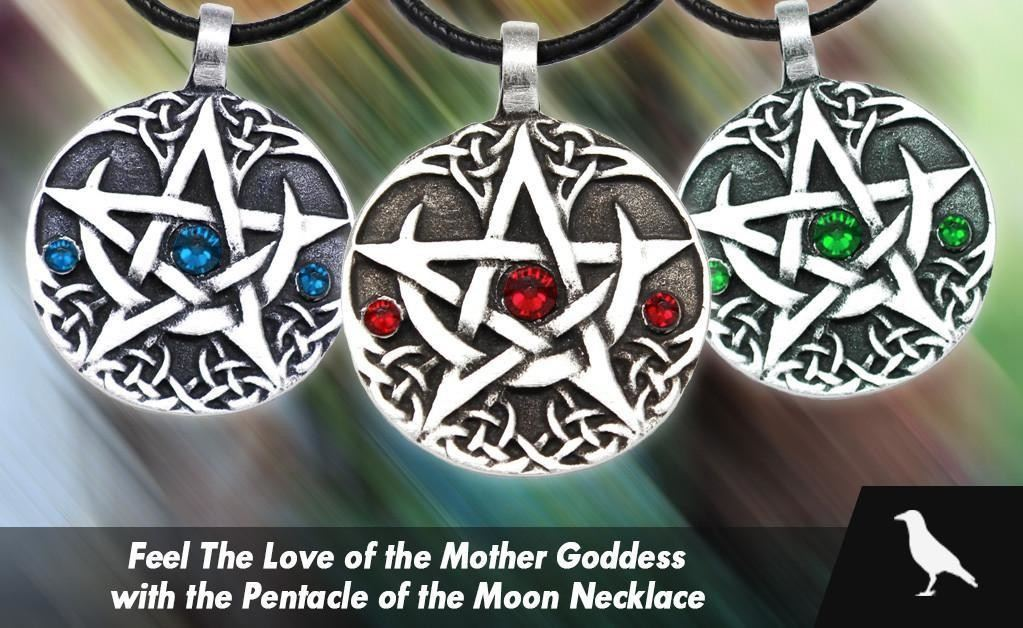 Feel The Love of the Mother Goddess with the Pentacle of the Moon Necklace