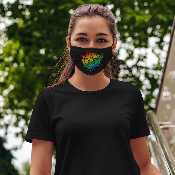 Rainbow Pentacle Face Mask