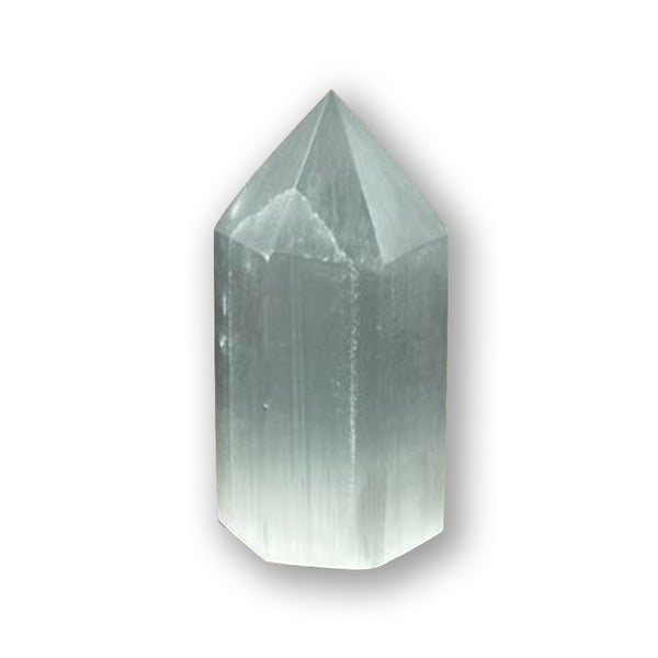 White Selenite Obelisk Of Healing And Positive Light