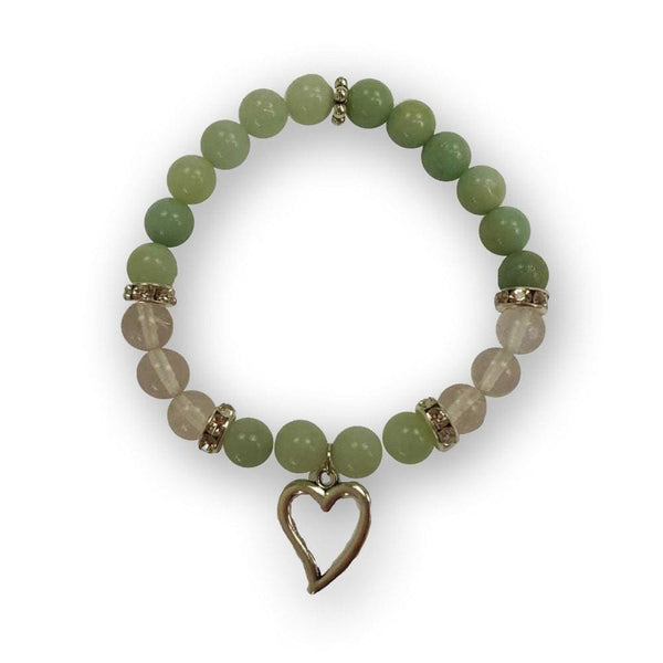 Amazonite And Quartz Of The Heart Bracelet - The Moonlight Shop