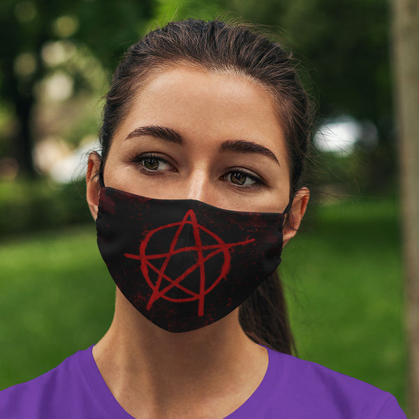 Anarchy Pentacle Face Mask