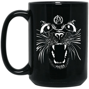 Angry Pentacle Cat Mug - The Moonlight Shop