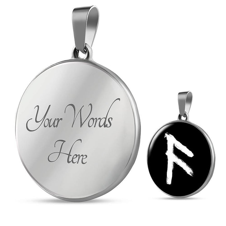 Ansuz Rune Luxury Necklace - The Moonlight Shop