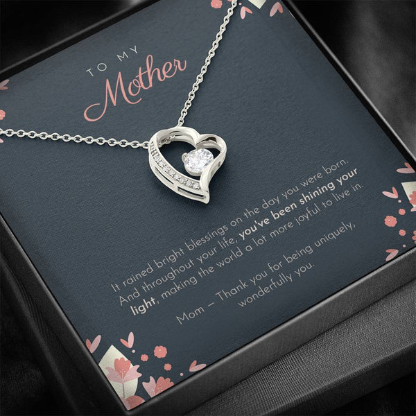To My Mother - Shining Your Light Necklace