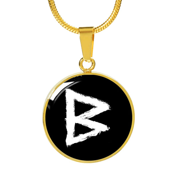 Berkano Rune Luxury Necklace - The Moonlight Shop