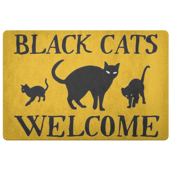 Black Cats Welcome Doormat - The Moonlight Shop