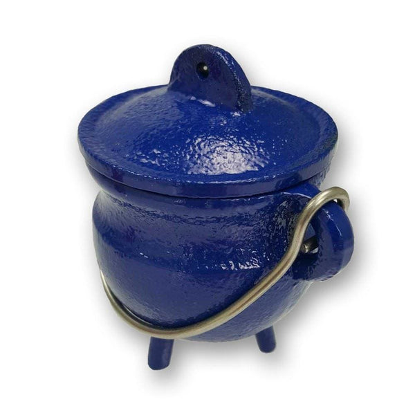 Blue Cast Iron Cauldron Of Tranquility - The Moonlight Shop