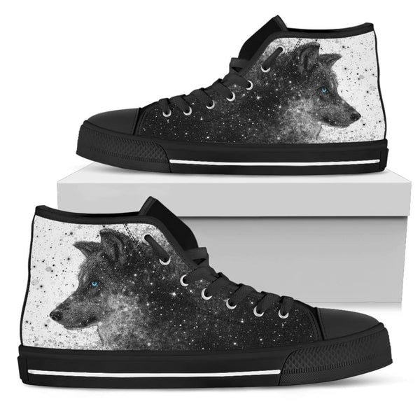 Blue-eyed Wolf High Top Shoes - The Moonlight Shop
