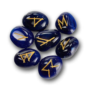 Blue Onyx Emotion-Balancing Runestones - The Moonlight Shop