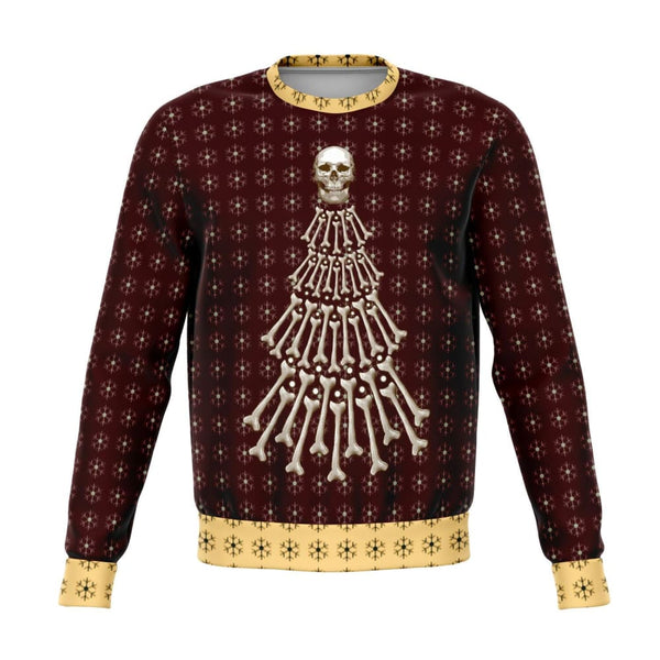 Bones Christmas Tree Ugly Yule Sweatshirt - The Moonlight Shop