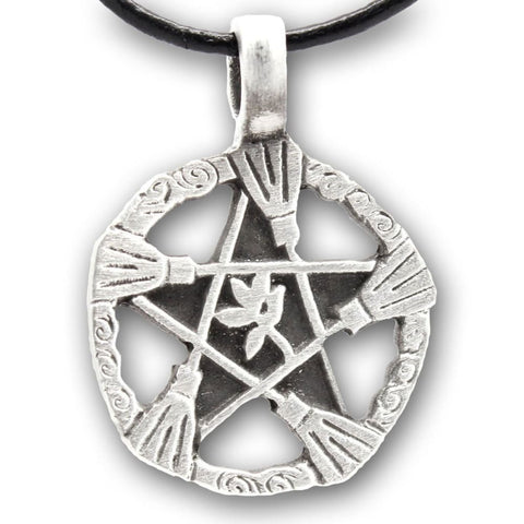Brooms Of Elder Pentacle Necklace