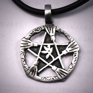 Brooms Of Elder Pentacle Necklace - The Moonlight Shop