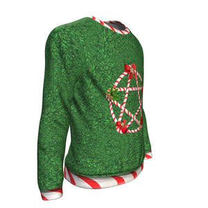 Candy Cane Pentacle Sweatshirt - The Moonlight Shop