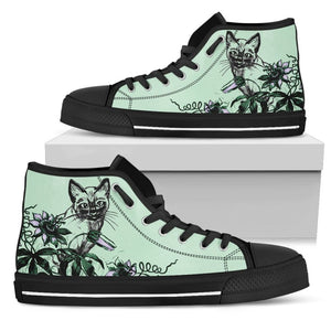 Cat Womens High Top Shoes - The Moonlight Shop