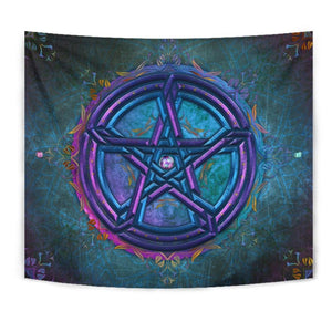 Celtic Pentacle Floral Tapestry - The Moonlight Shop