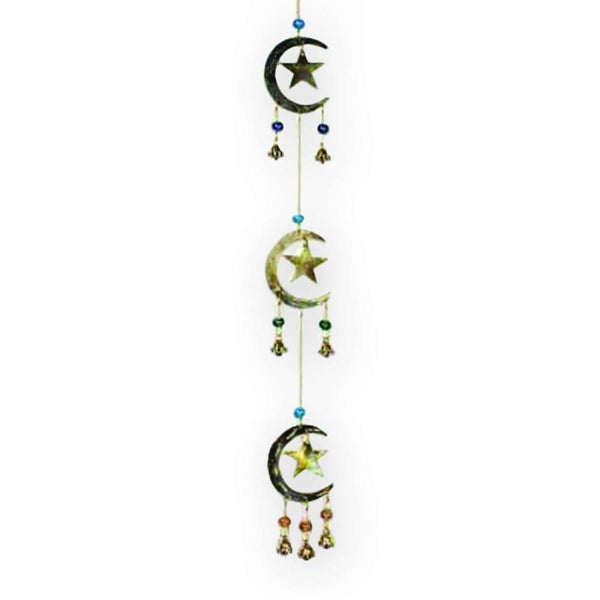Crescent Moons And Stars Windchime - The Moonlight Shop