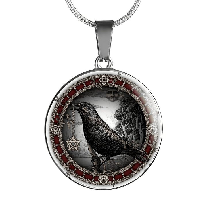 Crow Pentacle Luxury Necklace - The Moonlight Shop