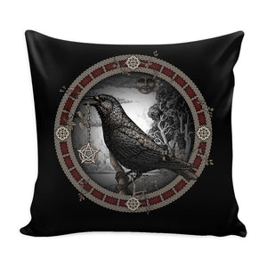 Crow Pentacle Pillow - The Moonlight Shop