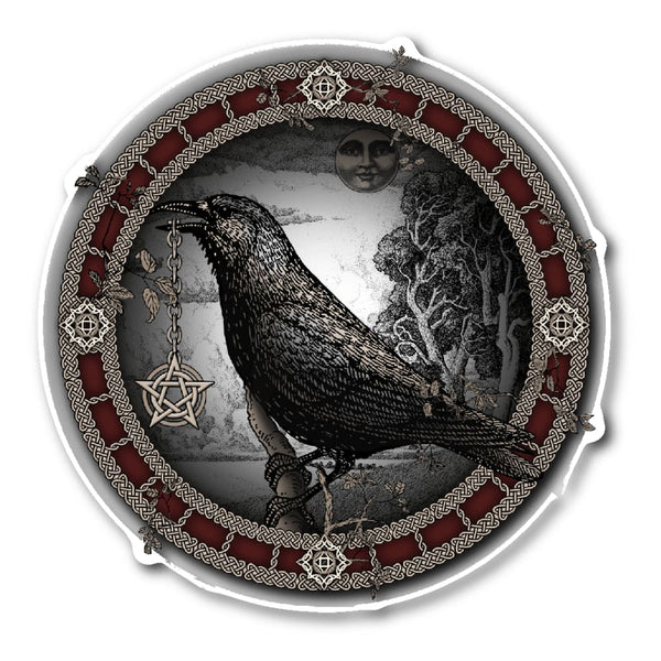 Crow Pentacle Sticker - The Moonlight Shop