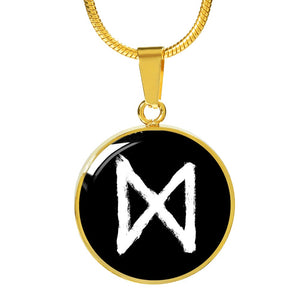 Dagaz Rune Luxury Necklace - The Moonlight Shop