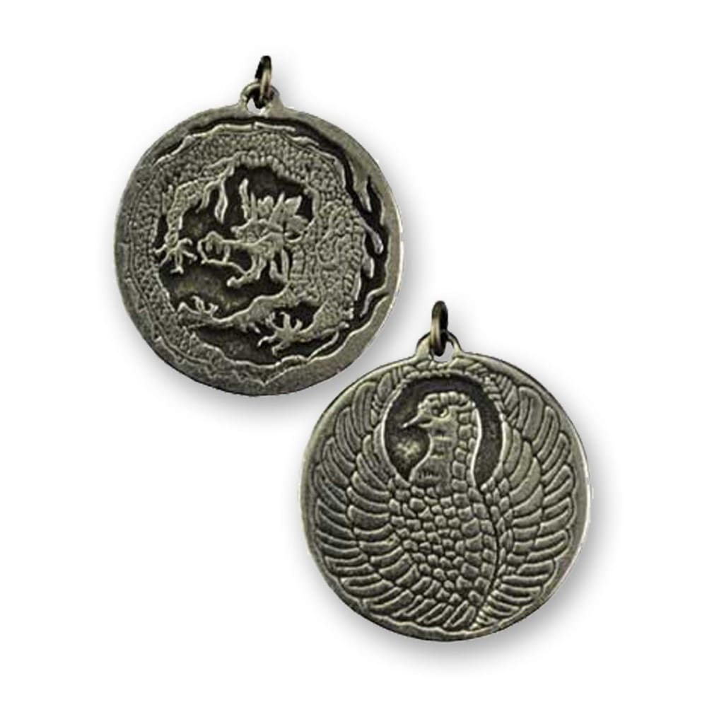 Dragon Guardian And Phoenix Protective Amulet - The Moonlight Shop