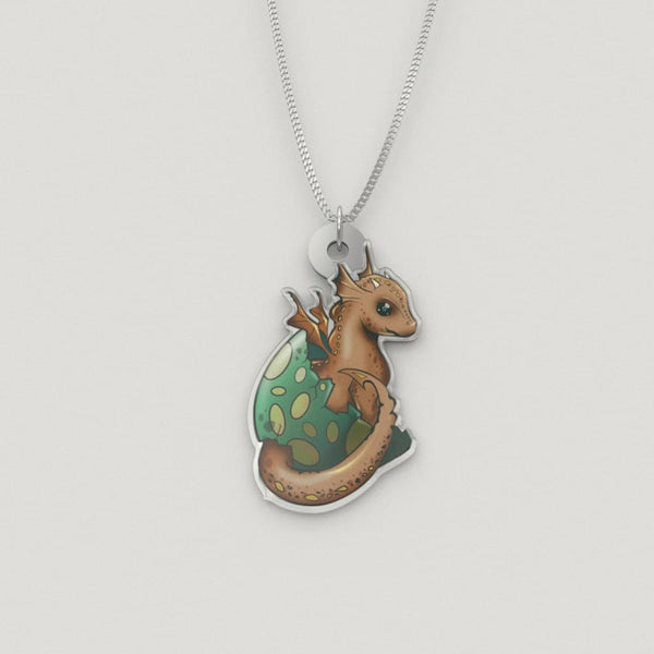 Dragon Hatchling Luxury Charm Necklace - The Moonlight Shop