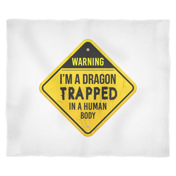 Dragon Trapped In Human Form Fleece Blanket - The Moonlight Shop