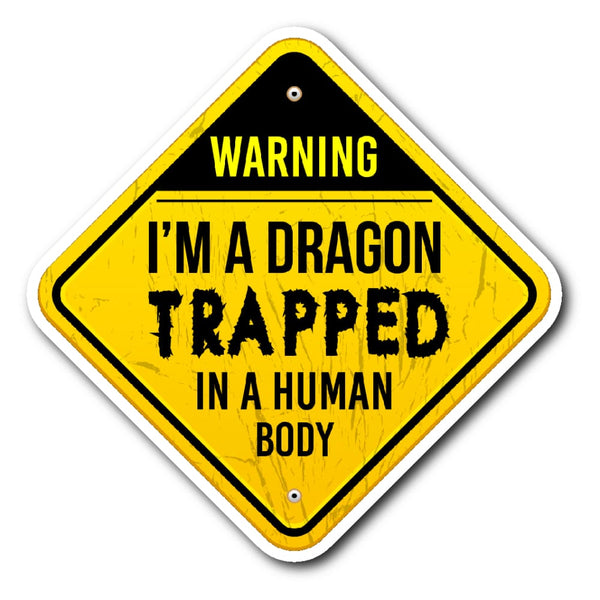 Dragon Trapped In Human Form Sticker - The Moonlight Shop