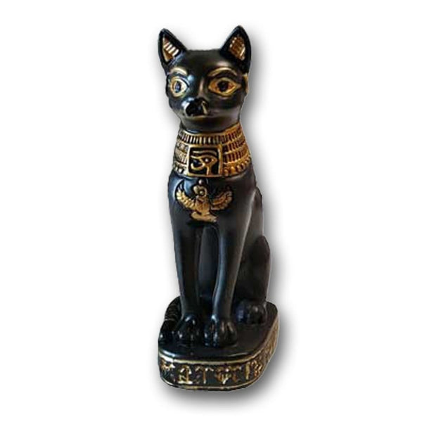 Egyptian Cat Goddess Bastet Altar Statue - The Moonlight Shop