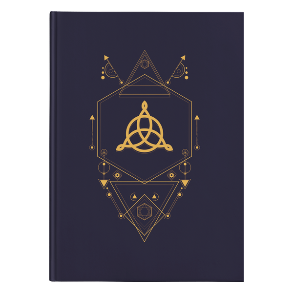 Geometric Triquetra Hardcover Journal
