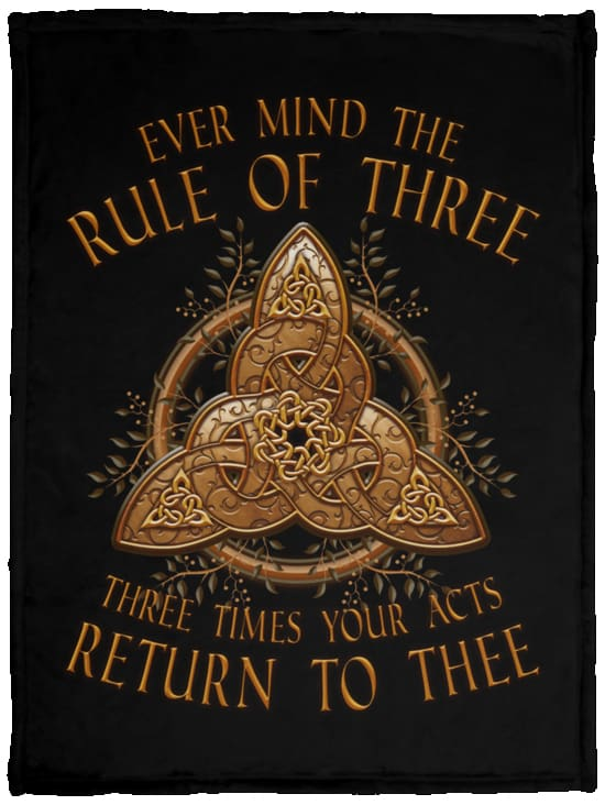 Ever Mind The Rule of Three Fleece Blanket - The Moonlight Shop