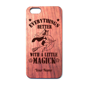 Everythings Better With A Little Magick Iphone Case (Add Your Name) - The Moonlight Shop