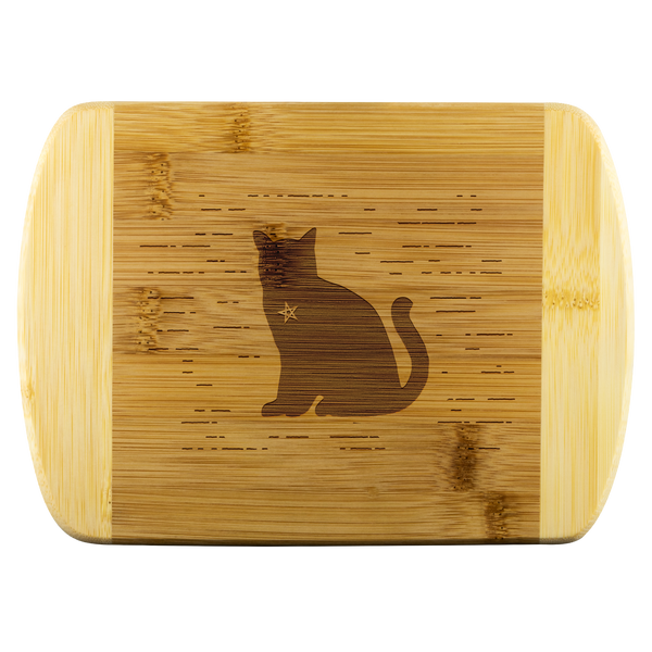 Pentacle Cat Wood Cutting Board
